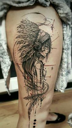 Man And Women Tattoo : # ozilook # tattoo # smalltattoos # tattooforwomen # tattooart # tattooquotes # watercolorta . Native American Tattoos, Native Tattoos, Wolf Tattoos, Leg Tattoos, Body Art Tattoos, Sleeve Tattoos, Girl Tattoos, Arm Tattoos For Guys, Trendy Tattoos