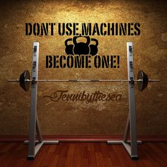 Dont use Machines Crossfit Gym wall decal art by jennibythesea, $14.99 #crossfit #BEASTMODE