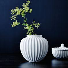 Schollert Vase in White, Medium
