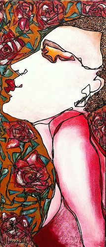 """Kisses and roses"" by Jolanda Lengkeek   www.jolandalengkeek.nl"