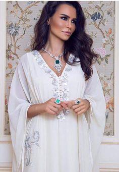 Miriam Labiad wearing a Moroccan Gandoura