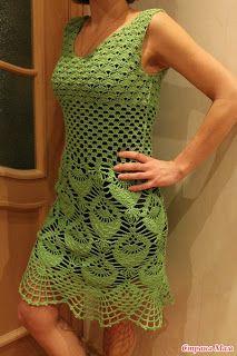 vestido verde ♪ ♪ ... #inspiration #crochet #knit #diy GB http://www.pinterest.com/gigibrazil/boards/