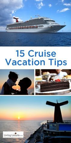 15 Tips for a Cruise Vacation! Great travel tips you will want to know before going on a cruise vacation. LivingLocurto.com