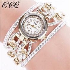 CCQ Fashion Relojes Mujer Women Bracelet Watches Watched Luxury Women Full Crystal Wrist Watch Quartz Relogio Feminino C44