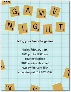 Invitation - Game Night Party