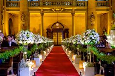 Take the chance to utilize this kind of church interiors for your wedding Wedding Aisle Decorations, Table Decorations, Chapel Wedding, Wedding Church, Summer Wedding, Dream Wedding, Church Interior Design, Royal Theme, Events Place