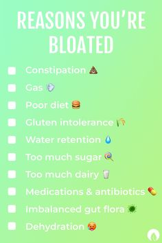 Do you suffer from bloating? Did you check off a majority of the boxes? If you're looking for the answer to this issue, try cleansing on the daily with our Daily Superfoods (which eliminates bloat, increases energy, and eases digestion)! Other remedies include reading labels, switching to natural products, reducing sugar/alcohol intake, and eating a whole organic foods diet with more fruits and veggies and less processed foods. Click the link to learn more!