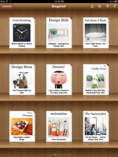 Blogshelf II -- my new RSS reader.  You can read more here:  http://projectsbyjen.com/blog/?p=2793