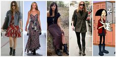 Combat boot inspiration How to wear it: Contradiction- pair tough boots with a feminine dress- think airy fabrics, floral prints, and light colors Distinction- top off a polished look (tailored blazers and skinny jeans) with chunky boots Bohemian- throw on a pair of boots with a maxi skirt or dress for a laid-back music festival feel Grunge- go the obvious 90's grunge scene route with torn jeans and a flannel button-down Punk- finish off an all-black ensemble with combat boots for a…