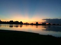 Sunset at Walcott park in Arkansas
