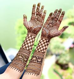 New indian bridal henna hands brides mehndi designs Ideas New Bridal Mehndi Designs, Palm Mehndi Design, Mehndi Designs Book, Stylish Mehndi Designs, Dulhan Mehndi Designs, Mehndi Design Photos, Beautiful Henna Designs, Mehndi Designs For Hands, Mehendi
