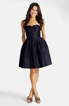 Cute navy blue strapless dress from Donna Morgan at Nordstrom