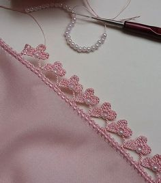 Trendy Ideas For Crochet Edging Ideas - Diy Crafts Crochet Stone, Crochet Lace Edging, Crochet Borders, Freeform Crochet, Cotton Crochet, Bead Crochet, Crochet Flowers, Crochet Stitches, Free Crochet