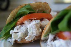 Chicken Salad Pita Sandwich w/Greek Yogurt ~ Tickled Red