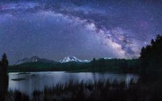 Milky Way over California's Mount Lassen (I remember nights like this up there in the mountains. . .breathtaking, truly.)