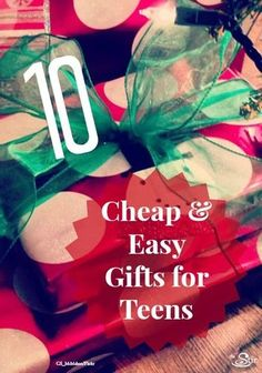 10 cheap & easy gifts for teens -- in fact a lot are FREE! http://thestir.cafemom.com/teen/130404/10_totally_cool_gifts_for?utm_medium=sm&utm_source=pinterest&utm_content=thestir