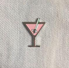 Martini Pin by MOONCEREMONY17 on Etsy