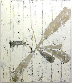 Jupp Linssen: Vegetabile 2011, Öl und Papier auf Leinwand, 130 x 110 cm