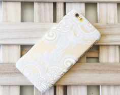 Clear Plastic Case Cover for Apple Devices Henna White by STUCHI
