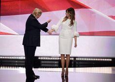 La first lady Melania Trump ama il bianco