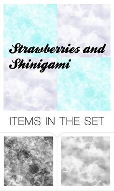 """""""Strawberries and Shinigami Cover"""" by secretly-a-fangirl ❤ liked on Polyvore featuring art"""