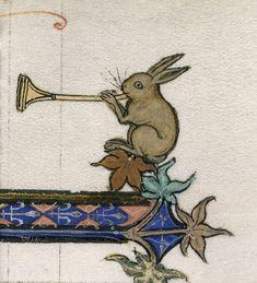 Пасхальный заяц играет на трубе (@BLMedieval, Королевский 3 D VI, XIII в.) c @J. Paul Getty Museum #Easter pic.twitter.com/BoL7nWCWrr