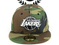9a6c16f54b51f Los Angeles Lakers Camo White Logo 59Fifty Fitted Baseball Cap by NEW ERA x  NBA Bonés