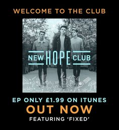 #NewHopeClub OUR EP IS OUT NOW #WelcomeToTheClub  ➡️ https://NewHopeClub.lnk.to/WelcomeToTheClubTW …                  ➡️https://open.spotify.com/album/2s4CZMy4HVnOv9LIw9L2z