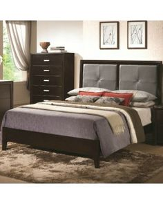 COASTER furniture Andreas Queen Casual Bed with Padded Headboard Price: $191 Coupon code : 1234567 for Big saving 20% off Free shipping and NO Sale Tax