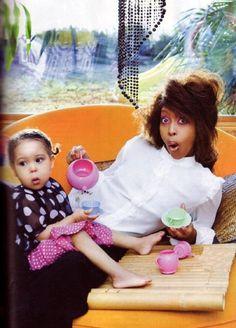 Erykah Badu and daughter Puma
