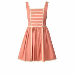 Cotton Blend Sleeveless Dress