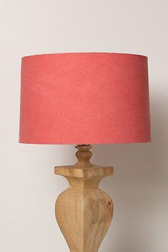 Mmmmm…this may be the solution to my matchy match problem in the office. Pop of coral. Jebel Lampshade #anthropologie