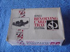 1971 Hoyle Revolving Card Tray for Canasta or Gin Rummy