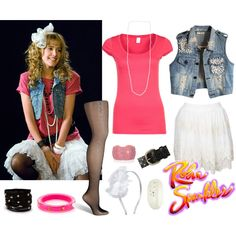 Robin Sparkles Costume by cassidy1125 on Polyvore featuring VILA, Fogal, Kate Spade, Forever 21, Vanity Her, OshKosh B'gosh, American Eagle Outfitters, DIY, Halloween and contest