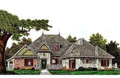 Front Elevation  House Plan# 310-986