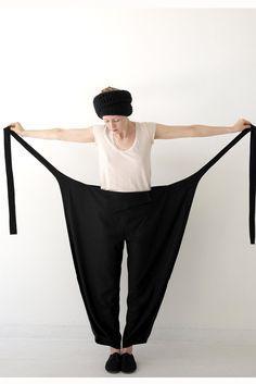 Raw Silk Wrap Pant