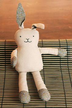 DIY Bunny Softie. Love this idea!