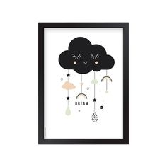 The birds and the bees Poster A3 - Lovely Cloud - afbeelding 1