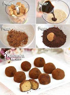 Tiramisu Balls Recipe is my favorite - Eat Recipes Raw Food Recipes, Sweet Recipes, Cake Recipes, Dessert Recipes, Yummy Recipes, Subway Cookie Recipes, Sweet Pastries, Balls Recipe, Mets