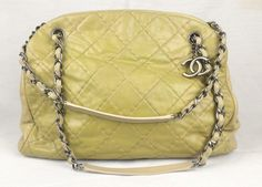 100% Authentic CHANEL Lambskin Leather Chain Bag Maxi Cross-body Mint #CHANEL #LambskinLeatherFashionBag