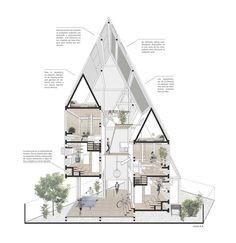 RVPE / Residencias verticales para estudiantes en Concepción, por República Portátil: