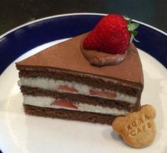 イチゴのチョコレートケーキ