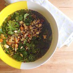 nourishing bone broth, herbs and seeds - Lia Burton Nutrition