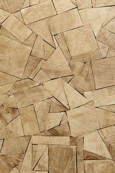 Parquets originaux Patchwork de morceaux de chêne en bois debout, Raphael Navot…