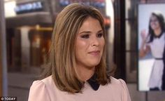 Emotional moment: Jenna Bush Hager broke down in tears on Today (above) while speaking about Malia and Sasha Obama