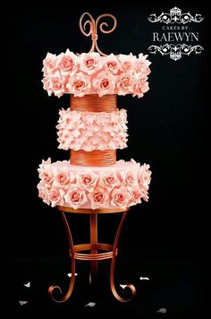 Gumpaste decor on this unusual cake