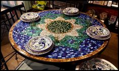 Wholesale mosaic dining and patio tables, stained glass mosaic tables, mexican tile tables Pebble Mosaic, Mosaic Glass, Stained Glass, Tile Tables, Dining Tables, Mosaic Tables, Bistro Tables, Glass Tables, Patio Tables