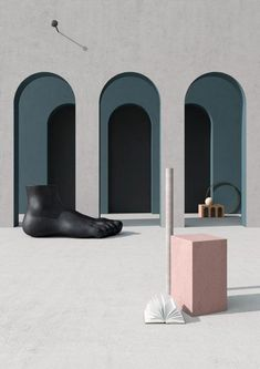 The concept is to create different set inspired by Giorgio De Chirico that resume the mood and the colors of his works reinterpred in a modern and way Interior Design Blogs, Interior Styling, Magritte, Mondrian, Art Deco, Furniture Sets Design, Rooms Furniture, Trendy Furniture, Furniture Websites
