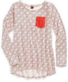 Tea Collection Cross Stitch Print Play Top (Toddler Girls, Little Girls & Big Girls)