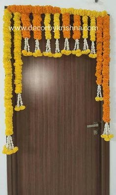 Decor by Krishna AP/ Telangana/ Karnataka/ Tamilnadu/ USA/Australia Housewarming Decorations, Housewarming Present, Simple Stage Decorations, House Warming Ceremony, Function Hall, Eco Friendly House, Flower Garlands, Home Look, Diwali